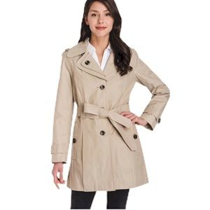 London Fog Trench Coat With Removable Hood